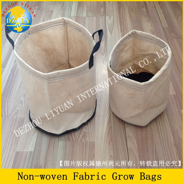Camel polyester fabric grow bags weightless movable for planting trees, potatoes