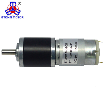 32mm 6mm stainless shaft Low noise Low rpm dc geared motor 12v for banking