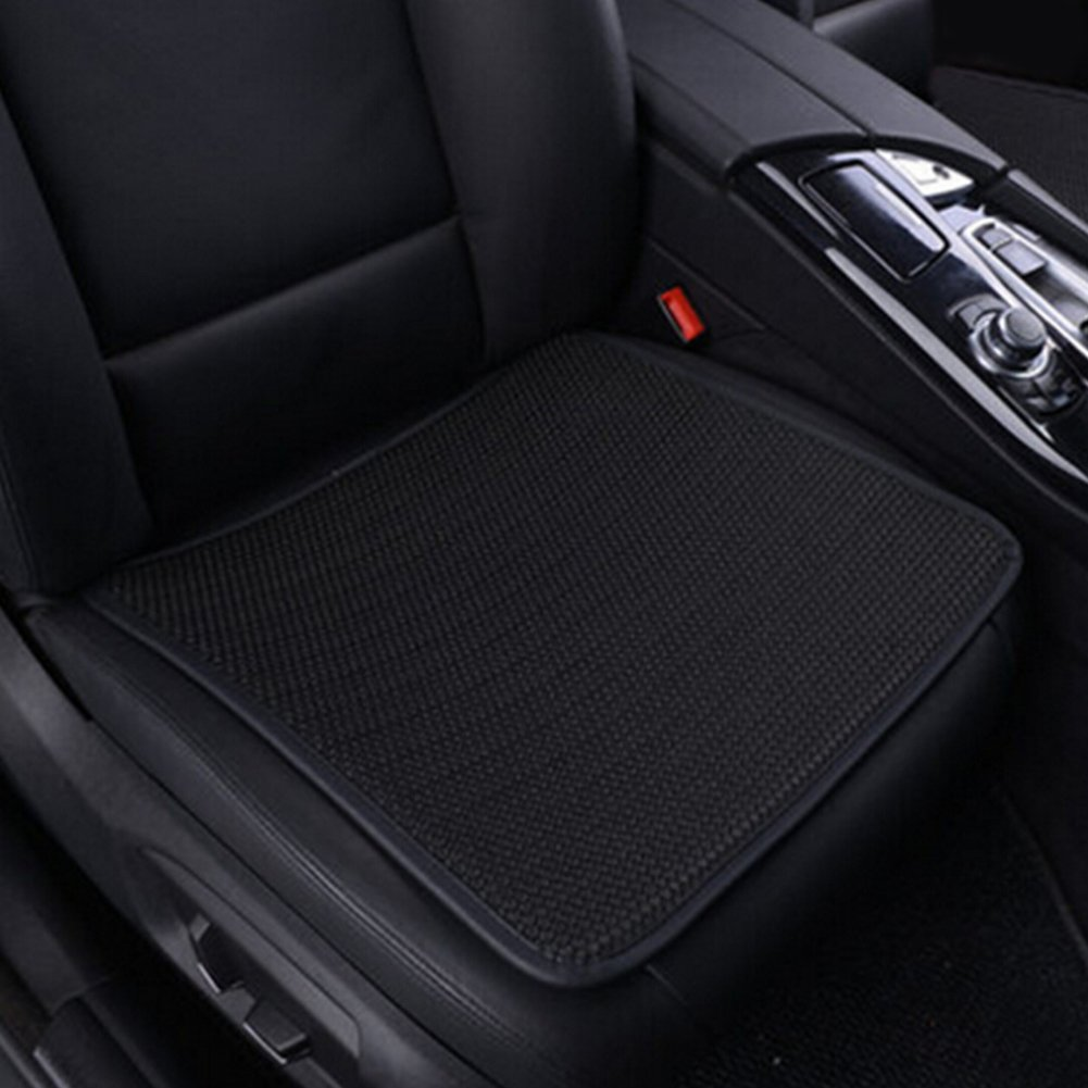 Summer Car Seat Covers, Ice Silk Car Seat Cushion Covers Pad Mat, Ventilated Breathable Comfortable Interior Seat Covers, Anti-skid Four Seasons General Seat Protector for Office/Home/Car(1PC, Black)