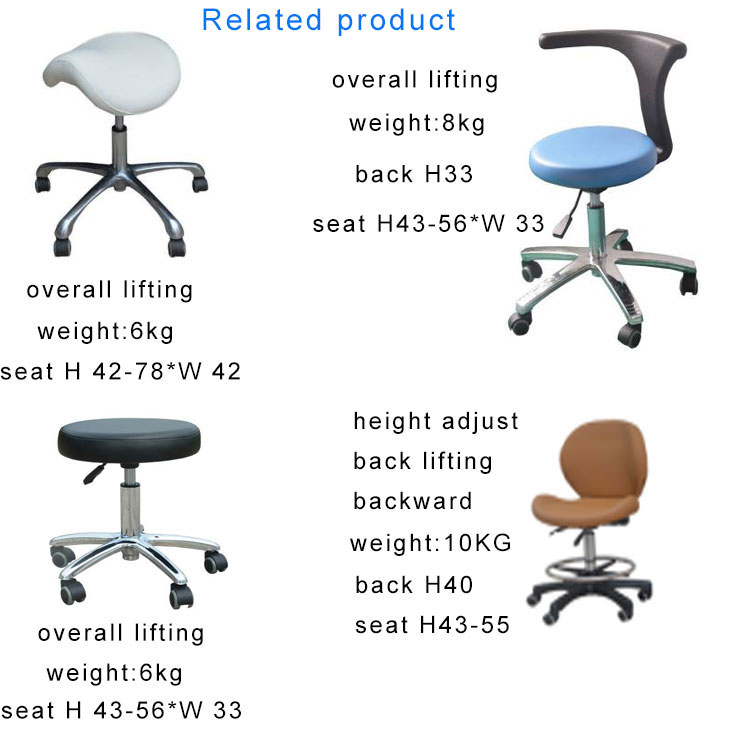beauty salon barber adjust height cutting saddle stool with backrest