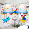 Fancy kids bedroom decoration fabric pendant lamp lovely cartoon lighting
