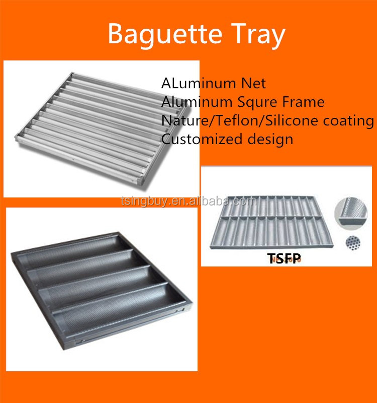 4 22 Gutter Non Stick Perforated Baguette Tray French
