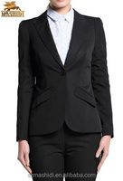 new style high quality black color best selling ladies formal suit