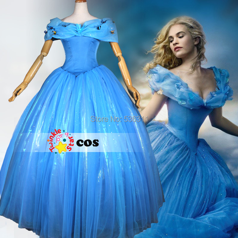 Princess Cinderella Wedding Dress Costume For: Aliexpress.com : Buy New Movie 2016 Princess Cinderella
