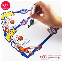 2017Hot selling custom design only cartoon erasable magnetic drawing board with basketball