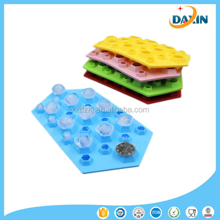 3D Diamonds Cool Silicone ice/Chocolate Cube Tray Mold