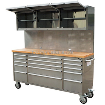 Stainless Steel Job Site Tool Box With Drawers And Wood
