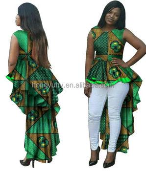African Print Ankara Dress Top Custom Made Ball Gown Africa Wax