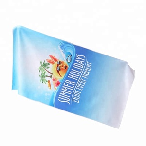 Quick Dry Custom Logo Letter Digital Printed Microfiber Sublimation Beach Towel