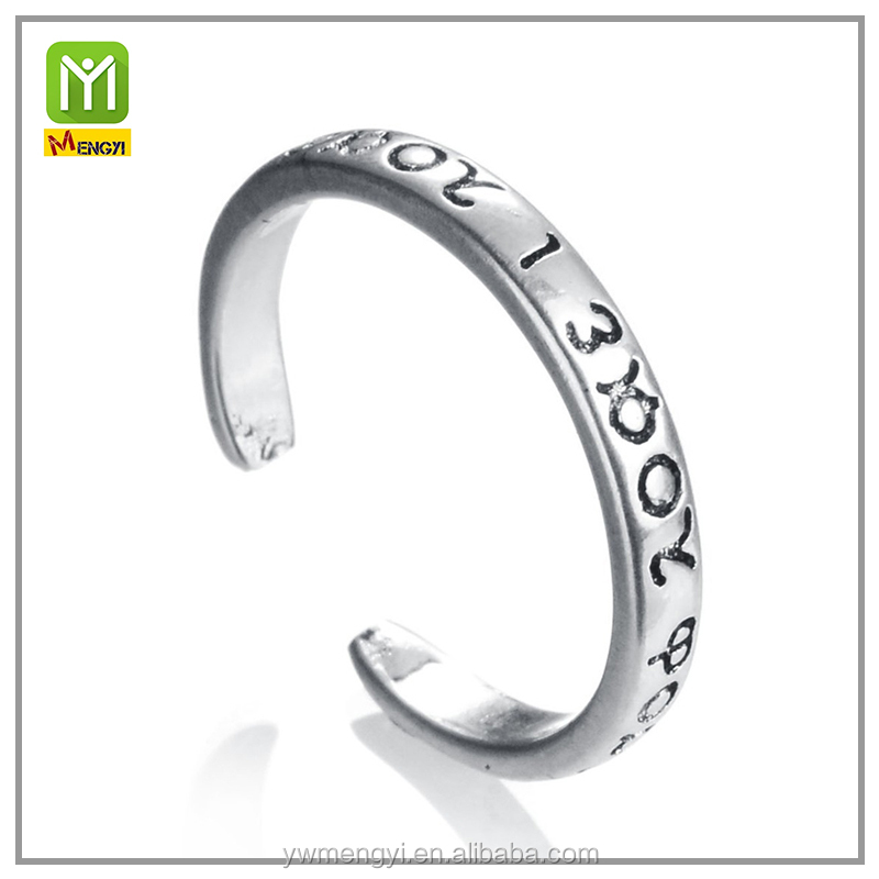 "2016 Fashion jewelry Chrome New design ladies 925 silverlove script Wedding""I Love You"" Sterling silver ring"