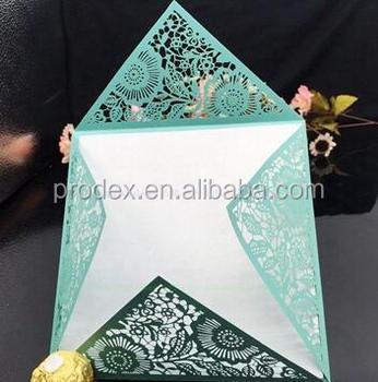New design laser cut wedding invitations