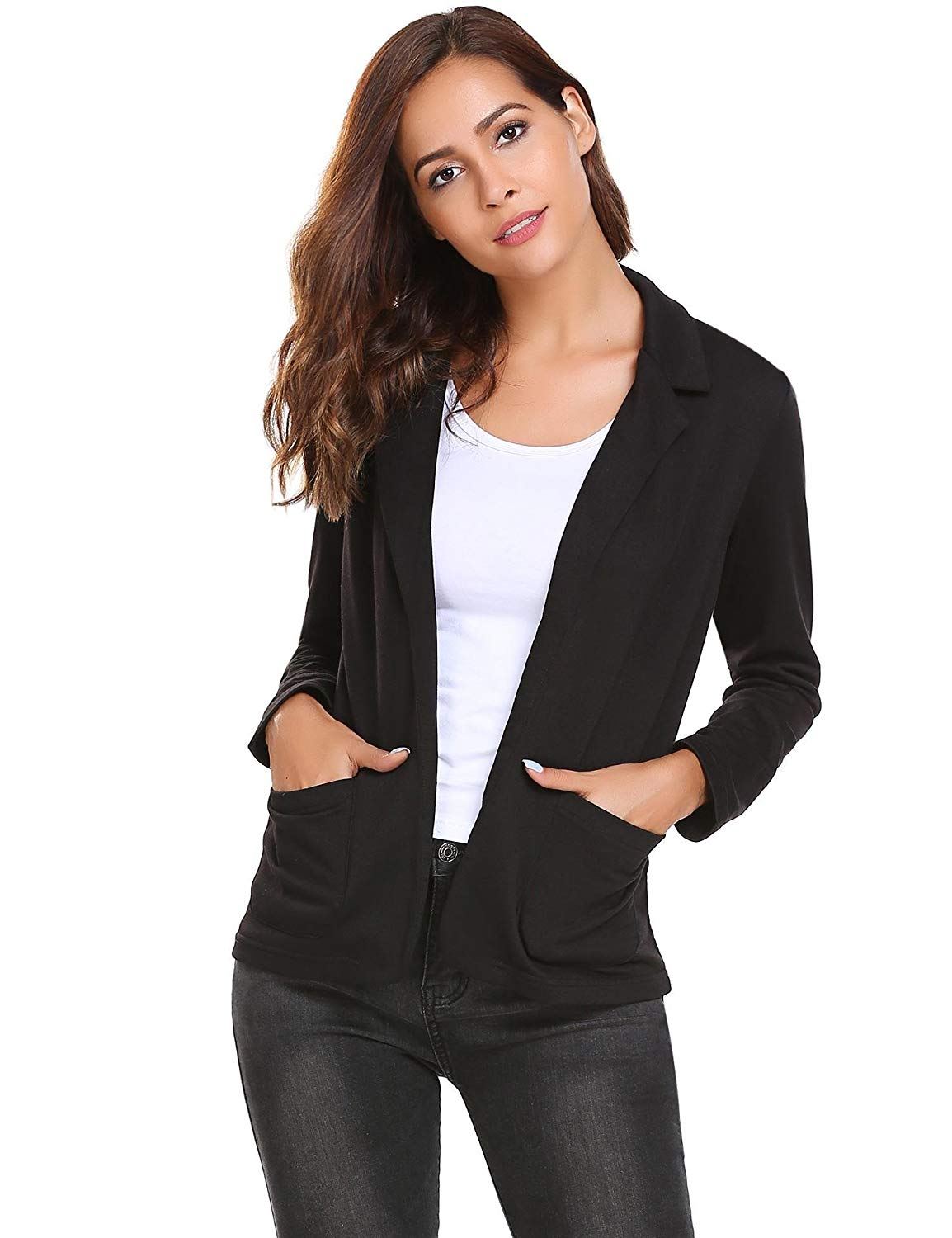 0dccef5ed14 Get Quotations · Nessere Blazer Coat Womens Womens Blazers Plus Size Fitted  Blazer Casual Jackets