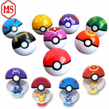 In stock 9 Pieces Different Style Ball with 9 Pieces Figures Plastic Super Anime Figures Balls for Pokemon Kids Toys Balls