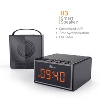 LED screen display alarm clock portable bluetooth FM radio speaker