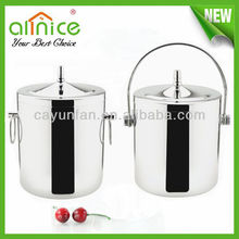Mirror polishing stainless steel ice bucket/beer can cooler holder/wine ice buckets wholesale