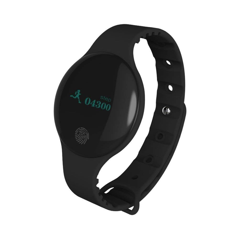 Bluetooth Smart Bracelet Band Sport Fitness Wristband W/Pedometer Step Calories Count Sleep Monitor Health Fitness Tracker (Black)