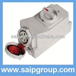 32A 3Pwatrproof IP 67 socket electric decorative switches and sockets with Switch and Locks SP5793