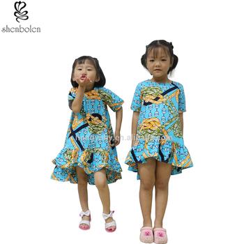 f3841778064393 Traditional African clothing summer Ankara wax batik print fabrics children  kids dresses clothes