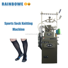 Singly cylinder sports football soccer sock knitting machine for making socks
