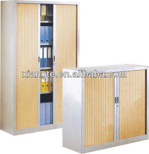 Heavy duty office filing use tambour door metal storage cabinet, roller shutter steel office file cabinet, commercial furniture