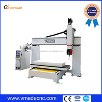 2015 Wide Use of Low Price five axis wood working cnc router machine for wood abrasive tool