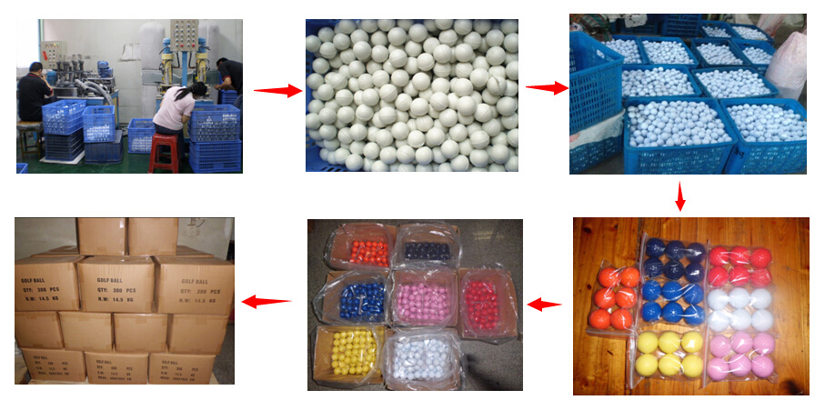 Promotional custom 2 pieces practice color golf ball