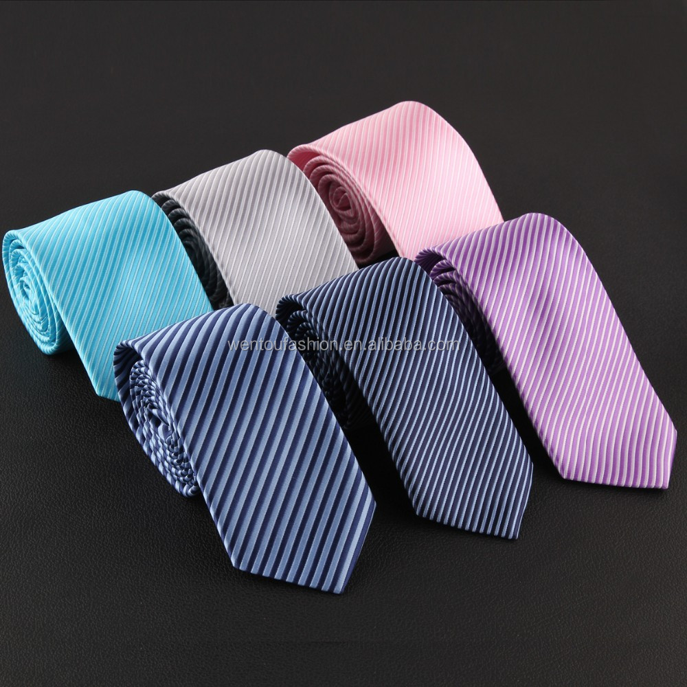 New design business high quality men stripe tie
