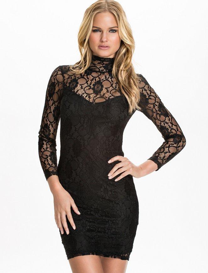 R79994 High quality turtleneck black summer dresses new brand ohyeah lace  mini plus size women clothing 2015 style women dress