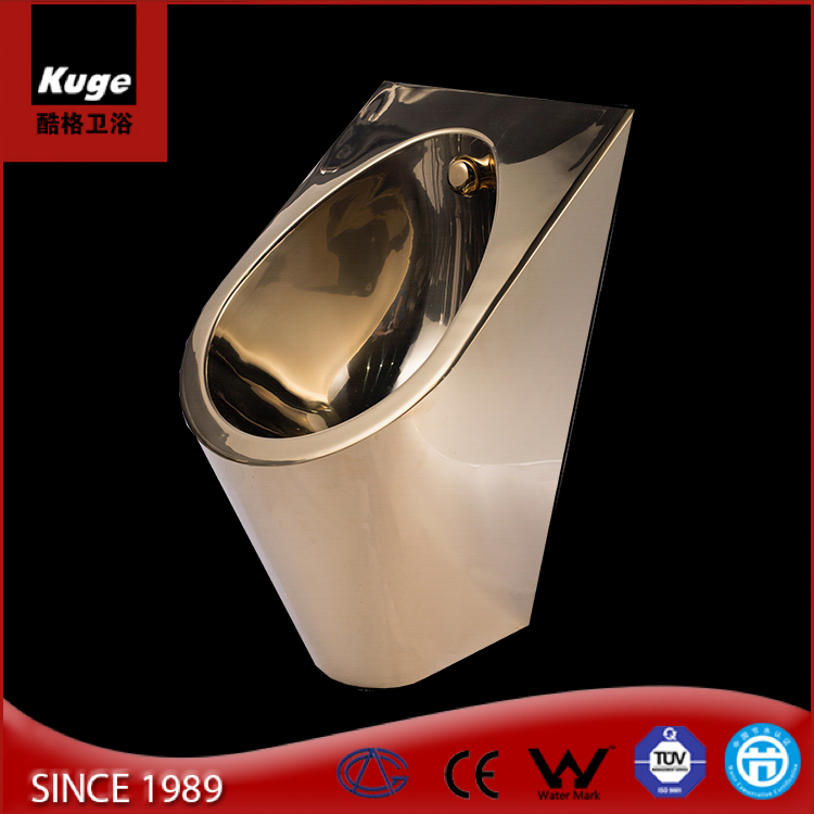 stainless steel gold plated golden color toilet for sale urinal gold urinal