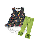 wholesale hot sale baby clothing sets Star print suit girls clothing sets