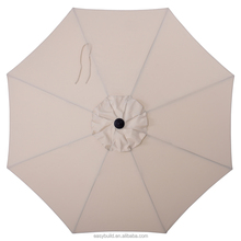 allen + roth Solid Wheat Market Patio Umbrella (Common 9-ft W x 9-ft L; Actual 8.6-ft W x 8.6-ft L)
