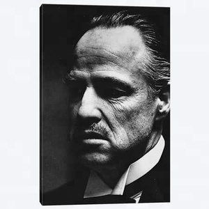 Marlon Brando In The Godfather Picture Printed on Canvas Movie Star Canvas Wall Art