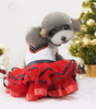 Rosy Dog Skirt Dog Red Wedding Dress Dog Dress for Party S-XXL