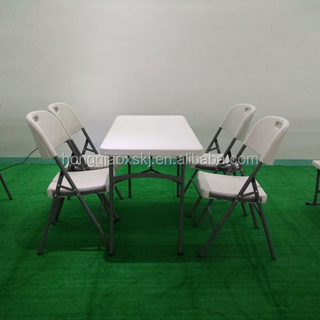 4 Foot Hot Selling High Quality Plastic Folding Table With Low Price, Small  Plastic Folding