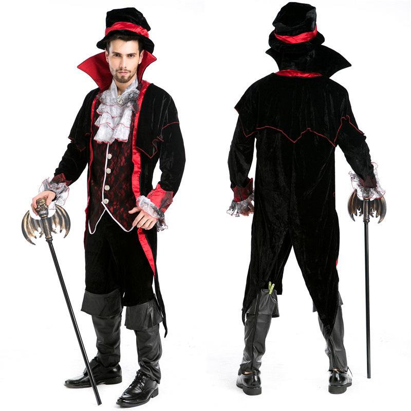 Get Quotations · Halloween Custumes Luxury Man Vampire Halloween Masquerade  Man Vampire Diary Vampire King Dracula Costume Halloween Cosplay