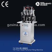 Cost-saving semi automatic glass bottle vacuum perfume filling equipment(4 heads)