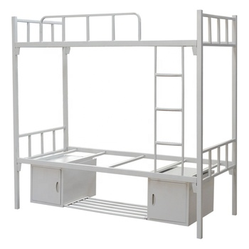 China Modern Army Hostel Hotel Iron Bed 3 Tier 3 Deck Steel Metal