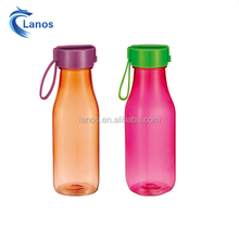 Large supply food grade transparent tritan plastic water bottle factory design like the cola bottle shape with can carry cover