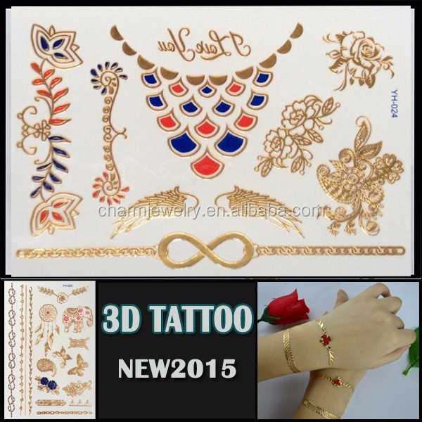 OEM wholesale new tattoo style 3D waterproof tattoo sticker beautiful design for body YH 024