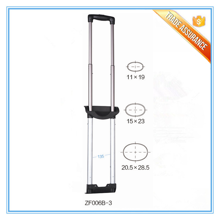 Metal Retractable Telescoping Luggage Cart Handles