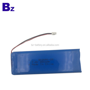 China Supply Lithium Battery BZ 802680 2S 850mah 7.4V Rechargeable LiPo Battery Pack