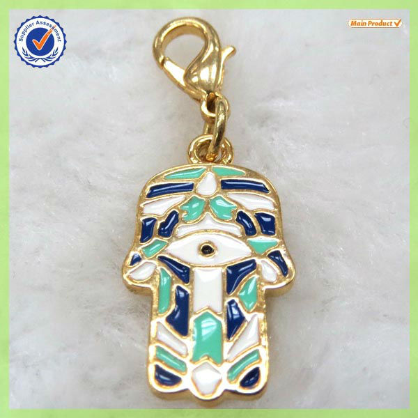 Top sale enamel hand shape charm in Mexico # 17861