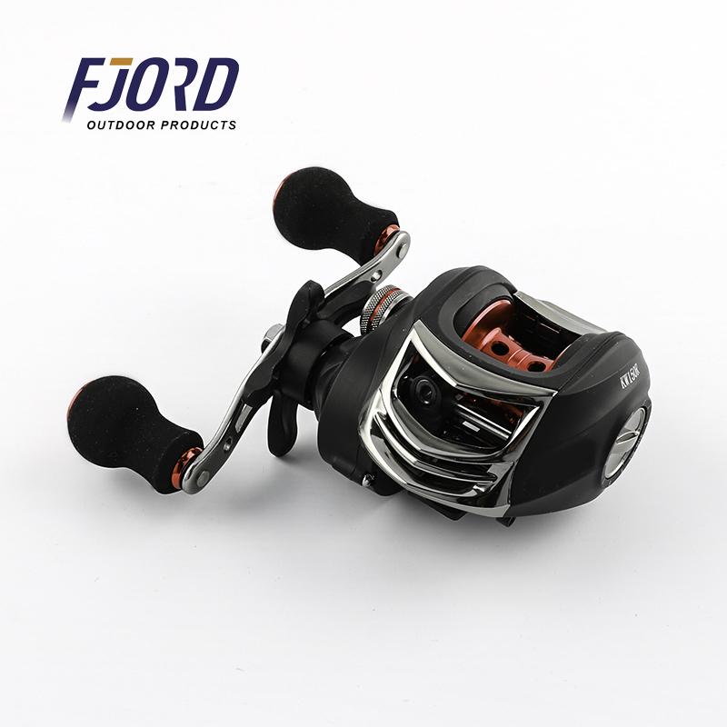 FJORD stock fishing reel 5+1BB 6.3:1 Magnetic brake Metal bait casting fishing reel penn, Blue or customized