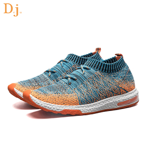 2018 hot sale Knitted Upper men running shoes sneakers sport shoes men