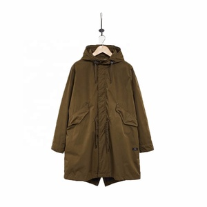 New custom lightweight fishtail parka for men
