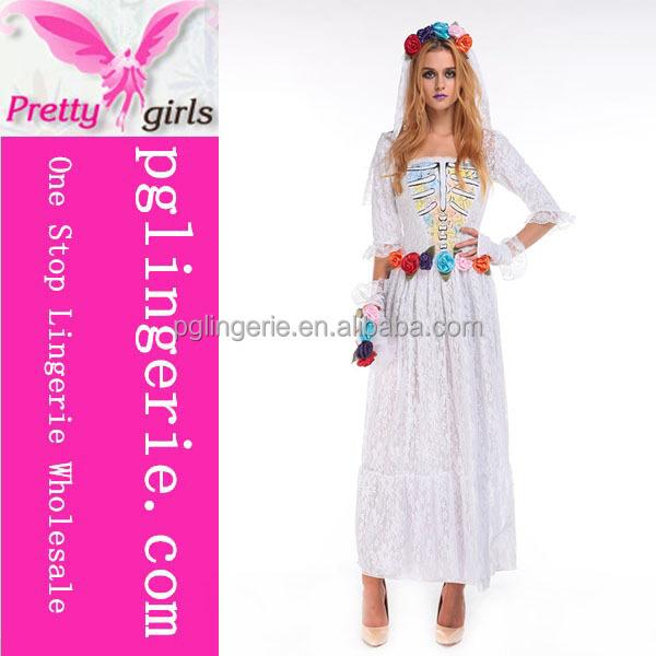 Venta al por mayor disfraces de vestidos blancos-Compre online los ...