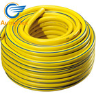 "1/2"" Flexible Agriculture Irrigation Pipe Coiled Yellow Reinforced PVC Garden Hose"