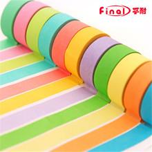 Wholesale 1 PCS !!! 2015 Office Adhesive Tape Rainbow Sticky Washi Adhesive Tapetes de sala Scrapbooking Paper Masking Hot Sale