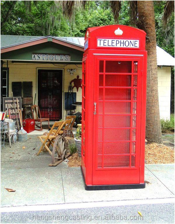 Botou Hengsheng Antique Red Public Telephone Booth For Sale - Buy Public  Phone Booth For Sale,Telephone Booth Model,Antique Telephone Booth Product  on