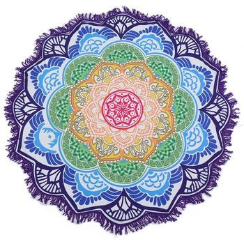 ac691178b1485 Beach Towel Tassel Indian Mandala Tapestry Lotus Printed Bohemian Yoga Mat  mandalas from india